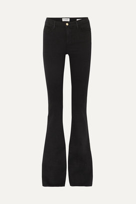 Frame Le High Flare High-rise Jeans - Black