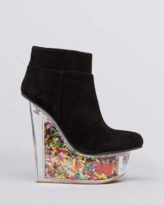 Jeffrey Campbell Platform Booties - Icy Glitter