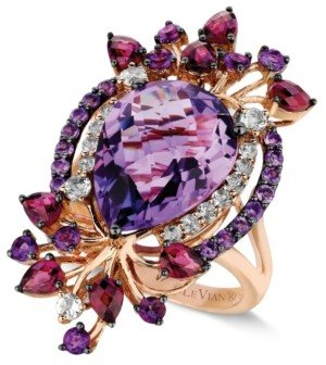 LeVian Le Vian Crazy Collection Multi-Stone Ring in 14k Strawberry Rose Gold (8 ct. t.w.)