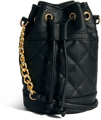 Asos Quilted Duffle Bag With Chain Handle - Black