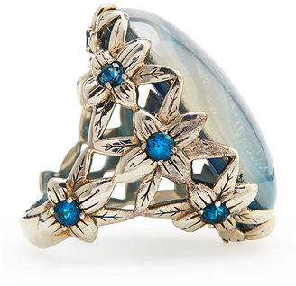 Stephen Dweck Blue Agate Delphinium Ring