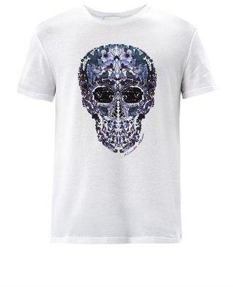 Alexander McQueen Floral skull-print T-shirt