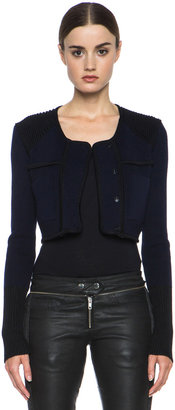 Isabel Marant Bazin Wool-Blend Jacket in Midnight