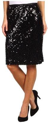 Calvin Klein Sequin Pencil Skirt (Black) - Apparel