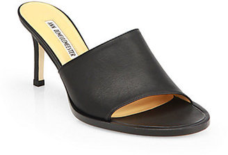Ann Demeulemeester Leather Mules