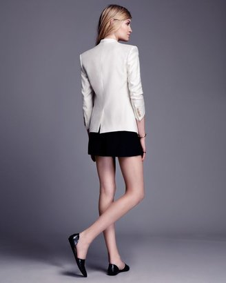 Helmut Lang Exclusive Linear Drape Leather Detail Blazer