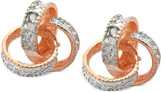 Townsend Victoria 18k Rose Gold over Sterling Silver Earrings, Diamond Accent Love Knot Stud Earrings