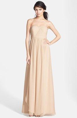Women's Jenny Yoo 'Aidan' Convertible Strapless Chiffon Gown $285 thestylecure.com