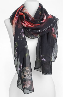 Alexander McQueen 'Tulip Skull' Scarf