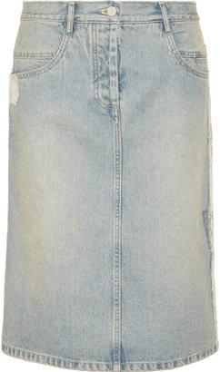 Alexander Wang Metallic-print denim skirt