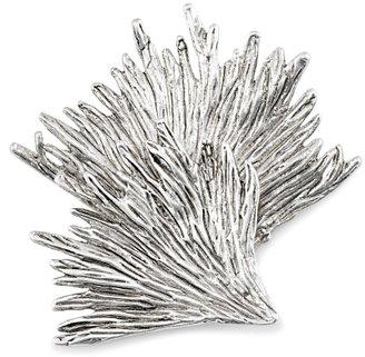 Kenneth Cole Silver Leaf Design Brooch