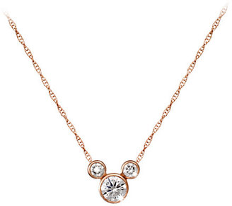 Disney Mickey Mouse Diamond Icon Necklace - 18K - Large