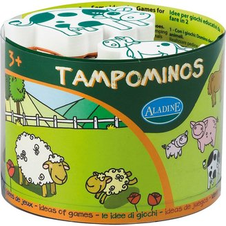 S.t.a.m.p.s. Aladine Tampominos Farm Themed Foam w/ Ink Pad - Set of 10