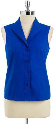 Jones New York Collection Sleeveless Cotton Blouse