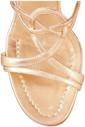 Oscar de la Renta Viola metallic leather sandals