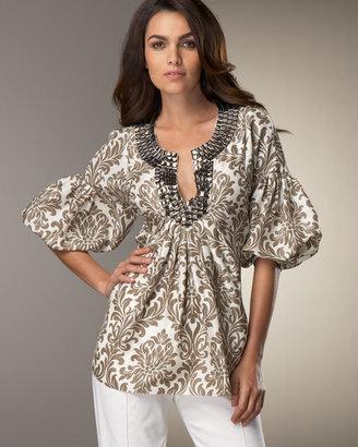 Magaschoni Beaded Silk Tunic