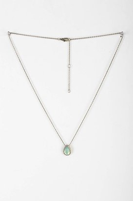 Urban Outfitters Delicate Teardrop Stone Necklace