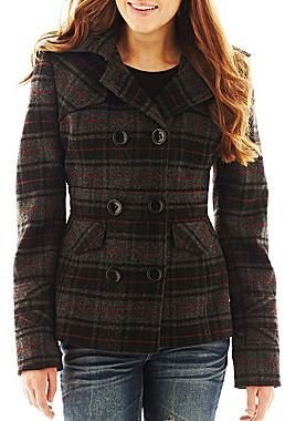 JCPenney Double-Breasted Pea Coat