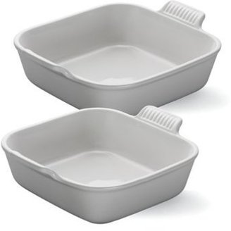 Le Creuset 8x8-in. Square Heritage Collection Baking Dish with Bonus Baker, White