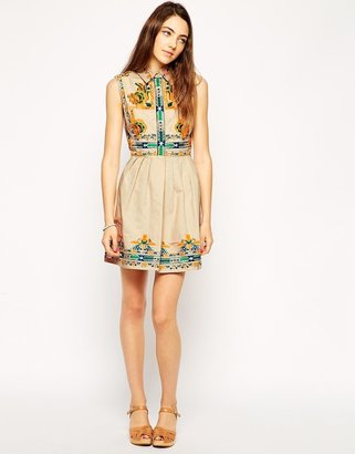 Asos Skater Dress with Embroidery
