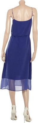 Richard Nicoll Washed-silk and chiffon dress