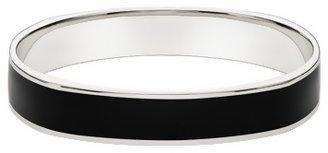 Ice.com Sterling Silver Bangle Bracelet w/ Black Enamel