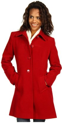 Larry Levine Luci Wool Walker Coat (Red1) - Apparel