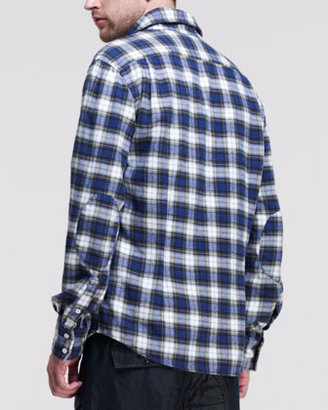 Michael Bastian Plaid Flannel Long-Sleeve Shirt, Multi