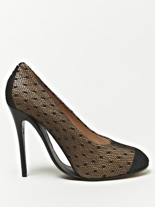Maison Martin Margiela Women's Leather And Lace Arched Sole Shoes