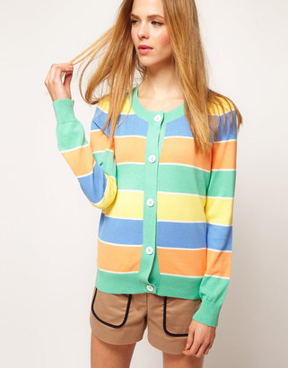 Jaeger Boutique by Pastel Stripe Sweater