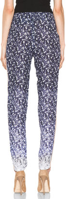 Yigal Azrouel Ombre Paisley Silk Georgette Pant in Night Multi