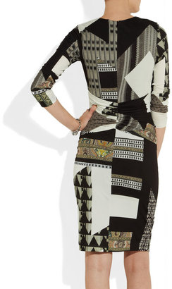 Etro Printed stretch-jersey dress