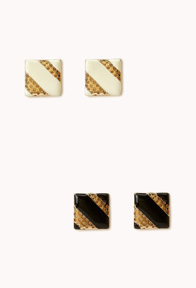 Forever 21 Throwback Square Studs