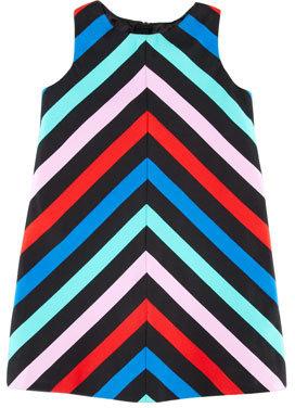 Milly Minis Sleeveless Striped-Twill Dress, Sizes 8-10