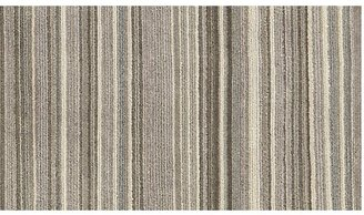 Crate & Barrel Lynx Grey Striped Hand Knotted Wool Rug