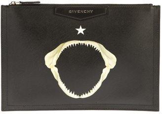 Givenchy shark print clutch