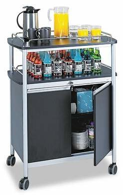 Safco Products Company Bar Cart Safco Products Company