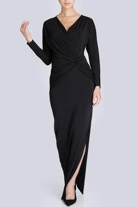 Josie Natori Matte Jersey Long Twist Dress