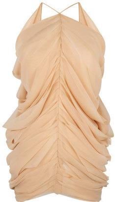 J.W.Anderson Beige Silk Mermaid Drape Top