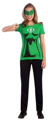Rubie's Costume Co DC Comics Women's Green Lantern T-Shirt With Eye Mask And Ring