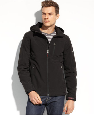 GUESS Jacket, Hooded Soft-Shell Active Performance Jacket