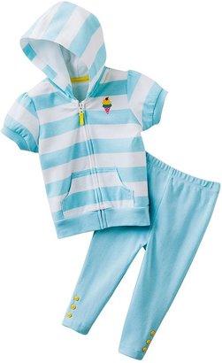 Carter's striped ice cream hooded cardigan & leggings set - baby