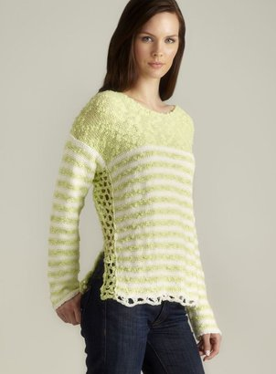 Free People Open Side Knit Pullover