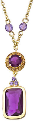 Carolee Gold and Crystal High Class Color Pendant Necklace