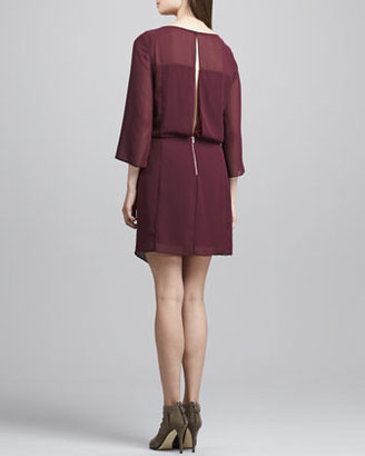 Elizabeth and James Surai Chiffon Faux-Wrap Dress