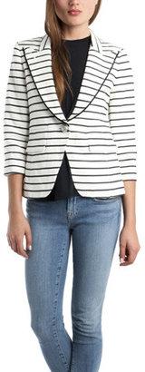 Smythe One Button Blazer in Stripe