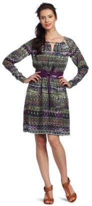 Anne Klein Women's Ethnic Stripe Print Dress