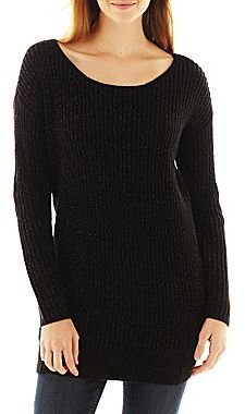 JCPenney a.n.a® Tunic Sweater