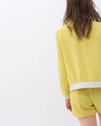 Zara Cardigan With Patch Pockets