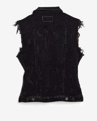 Rag and Bone Exclusive Tattered Vest: Rock Destroyed